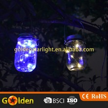 Warm White LED Fairy String Light Lid Insert Hanging Solar Lid Light for Garden Patio Porch