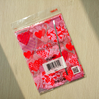 "22 x 25"" transparent Valentine lovers' gift basket bags, outer basket wrapping sleeves"