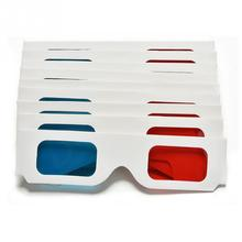 JLB82 Red Blue 3D Glasses Cardboard for Game Stereo Movie Cardboard video Vision 3D paper glasses