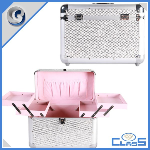 1-A High-quality Aluminium Case For Stylist Portable Cosmetic Train Brush Nail Tools Storage Makeup Kit