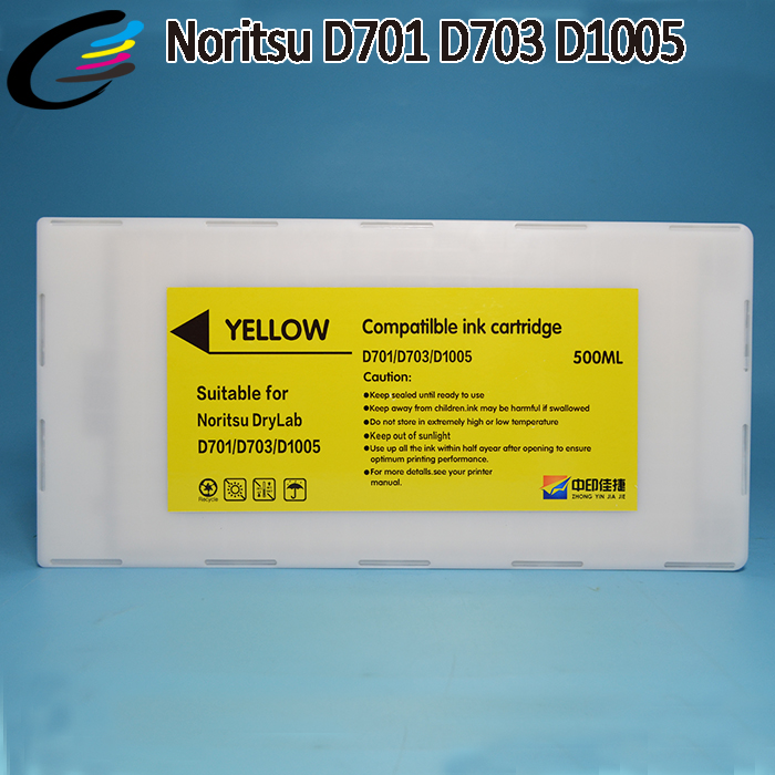 Compatible Noritsu D701 D703 D1005HR Ink Cartridges with Chip 500ML