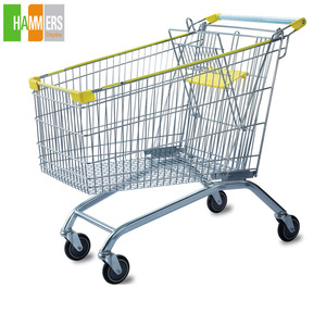 Euro Style 60L-240L Supermarket Shopping Trolley Shopping Hand Cart