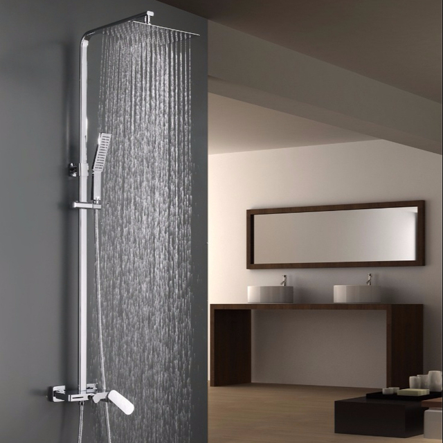 China manufacturer bathroom design wall mounted rain shower faucet set in chrome plating VS-SD081