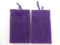 customized eco friendly colorful velvet phone pouch
