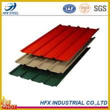 Factory Supply Color Coated Galvanized Metal Roofing Steel Sheet with High Quality from China