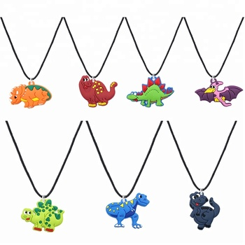 Dinosaur Rubber Necklace For Kids Party Dinosaur Silicone Necklace Back to School Gift
