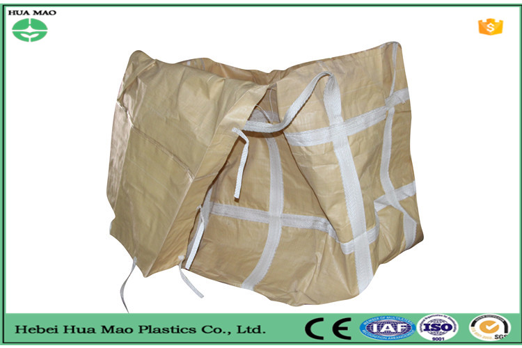 Waterproof super bulk woven container bag