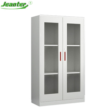 Hospital furniture Metal pharmacy display cabinets,Glass door display cabinet