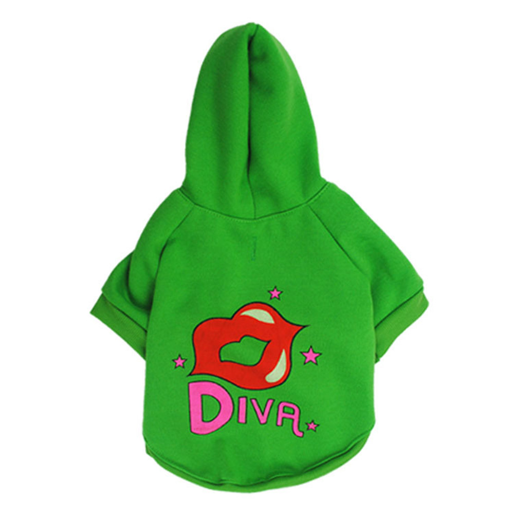 Diva Red Lip Fleece Pet Apparel Sweatshirts Dog Hoodies