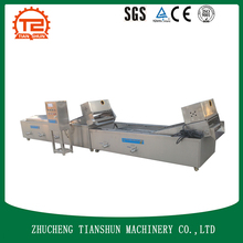 Stainless steel vegetables blancher food processing machinery