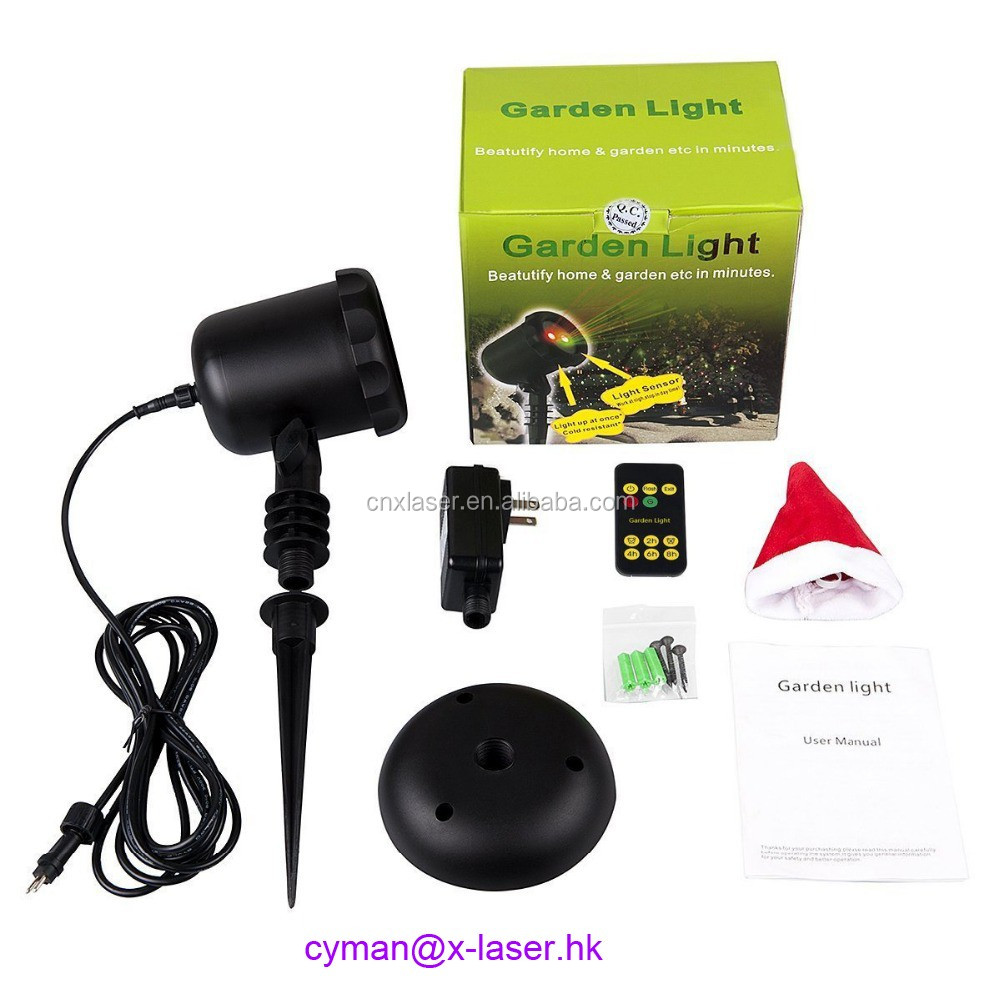 Moving outdoor motion solar laser lights laser christmas light with rf remote control
