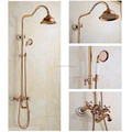New arrival in wall rose gold rainfall shower head shower set