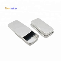 cheap small tin box mint candy packaging sliding metal small tin box wholesale