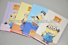 New fashion Despicable Me PU leather case for IPAD minion leather case,for ipad mini despicable me minion leather case