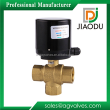 Ac dc service 220v 110v 24v brass water shut-off 3 way electric actuator ball valve