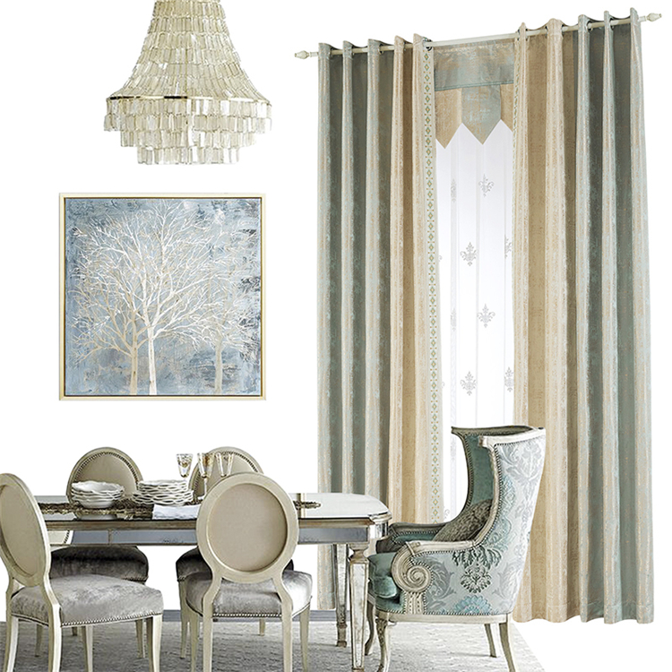 Latest new chinese style fashion designs luxury window curtain