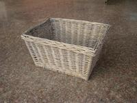 Hot sale rectangular storage basket woven wholesale wicker material bicycle basket