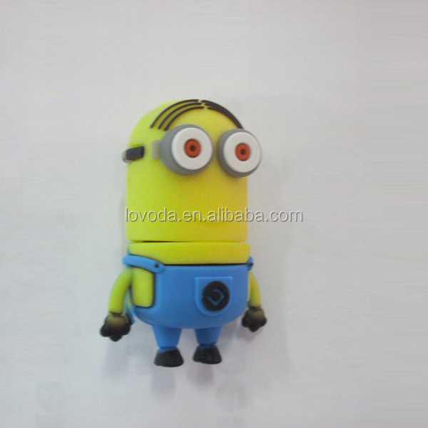 novelty full capacity Despicable Me 512gb usb flash drive, minion usb pen drive at sale price,usb flash drive skin