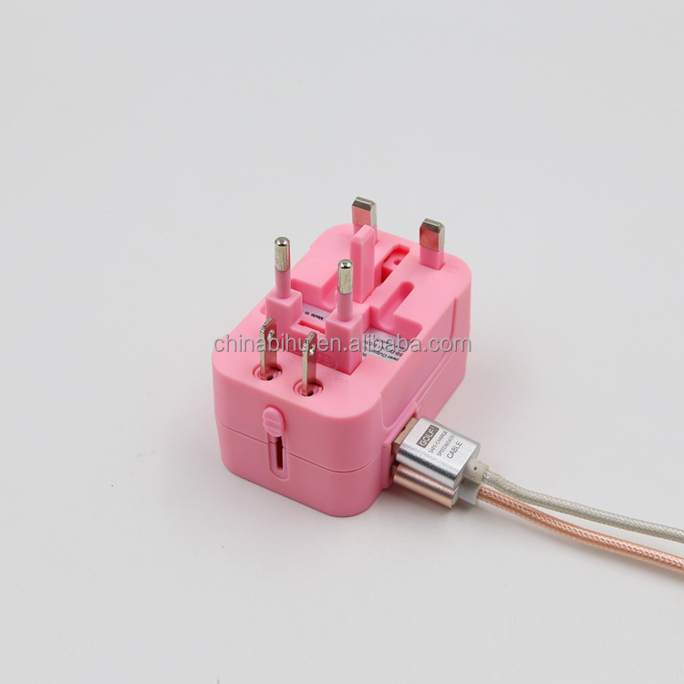 2017 customized top sell world universal plug travel adapter