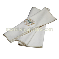 Waffle Golf Towel With Embroidery Pattern