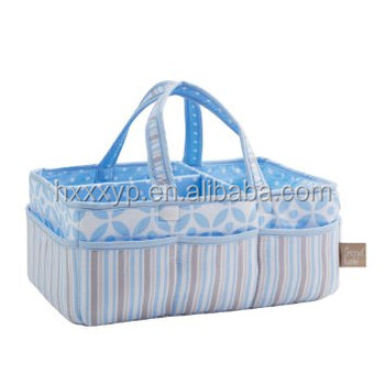 cotton canvas Storage Caddy for White diaper bag