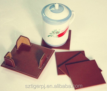Cheapest new model hotel products leather coaster