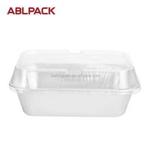 ABL 280ml Aluminium Bakery Clear Container Sauce Cups With Hinged lids Noodle Egg Tart Yogurt Sugar Container
