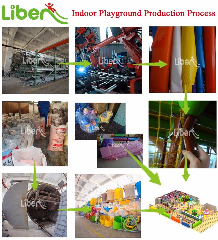 Liben LE-BY012 Kids Metal and Plastic Soft Design Kids Indoor Playground for Sale