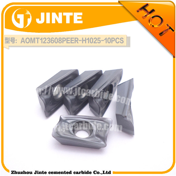 carbide turning milling insert metal lathe tool AOMT for steel machining