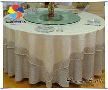 120inch Round Table Linen for Hotel/ Damask Table Overlay