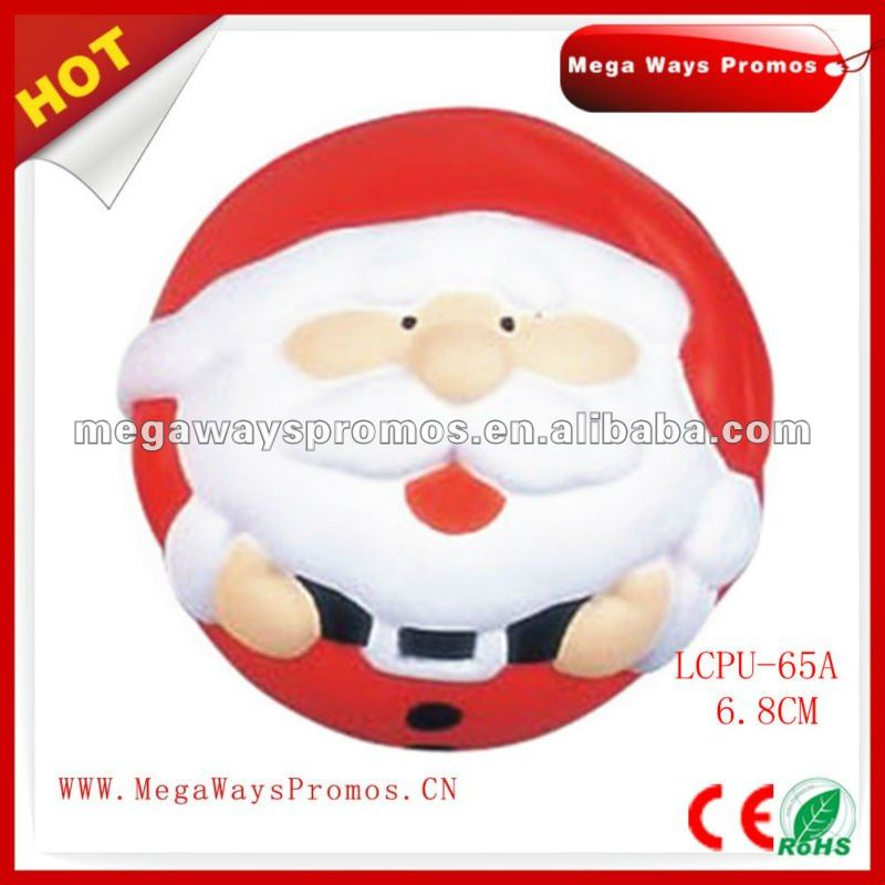 Round shape santa stress ball for Xmas