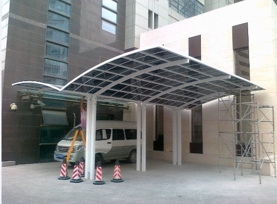 High Grade Easy DIY Elegant Aluminium/Solid PC Double Type Carport/Canopy