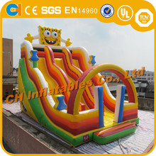 Attractive Spongebob inflatable water slide , Giant Inflatable slide ,Inflatable slide games for sale