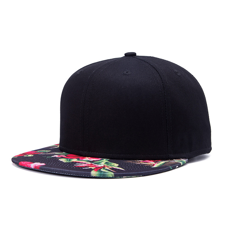 best selling fashion unisex hip-hop printing flat brim snapback caps