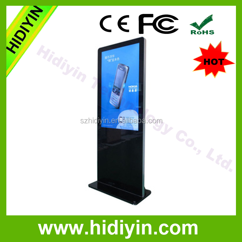 43'' TFT indoor video display network wifi lcd touch kiosk with gta vice city game download