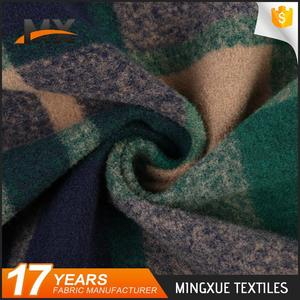 Low price different design popular plaid types of woven fabrics for overcoating