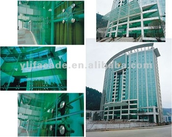 YLJ ONE STOP SOLUTION delicate design aluminum frameless glass curtain wall