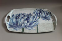18 Inch Melamine Serving Tray With Handle