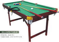 fashion MDF+PVC 5ft portable medium sized pool table