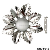 new wholesale metal decortative flower scarf ring clip(SR710-1)
