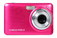 12mp digital camera with 2.7'' TFT display 4 x digital zoom rechargeable lithium battery
