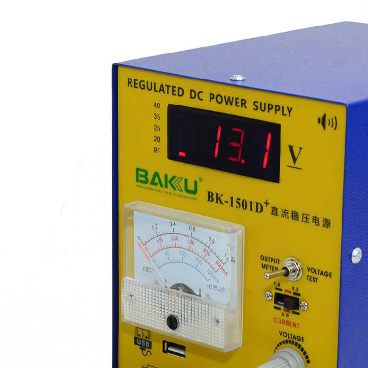 220V BAKU 1501D+ 15V 1A Adjustable DC Power Supply Mobile phone repair power test regulated power supply