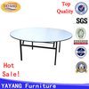 Metal plywood top foldable round dining banquet table with wheels wholesale in restaurant tables