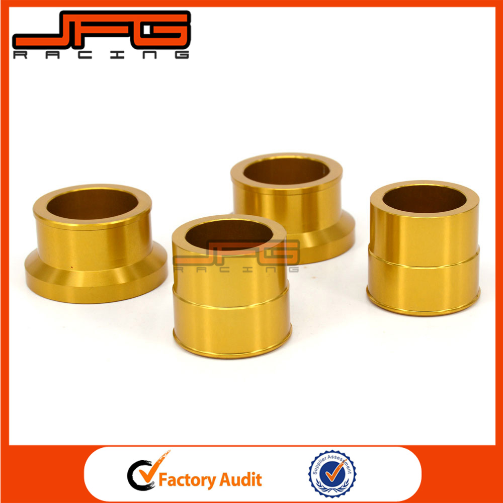Gold CNC Front & <strong>Rear</strong> Wheel Hub Spacers <strong>Axle</strong> Kit For SUZUKI RMZ450