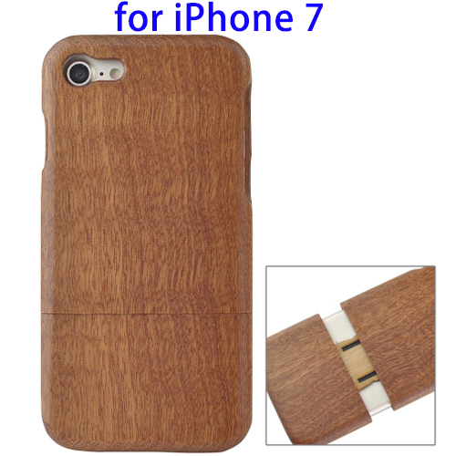 Blank Wood Case for iPhone 7, Detachable Wood Phone Case for iPhone 7 Cack Cover