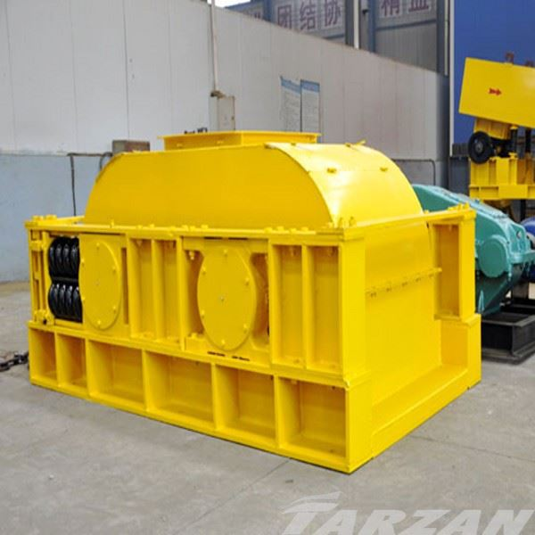 Large capacity small double used roll crusher price for mining ores