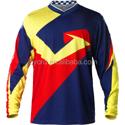 printing compression long sleeves t-shirt motocross jersey