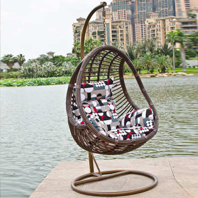 Outdoor Hanging rattan swing egg chair BC-926#