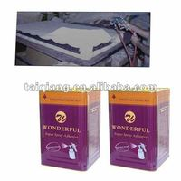 spray adhesive been used in swivel chair, sofa and mattress industry