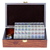 Travel Mini Mahjong Tiles Chinese Mahjong Set Transparent Mahjong Tiles